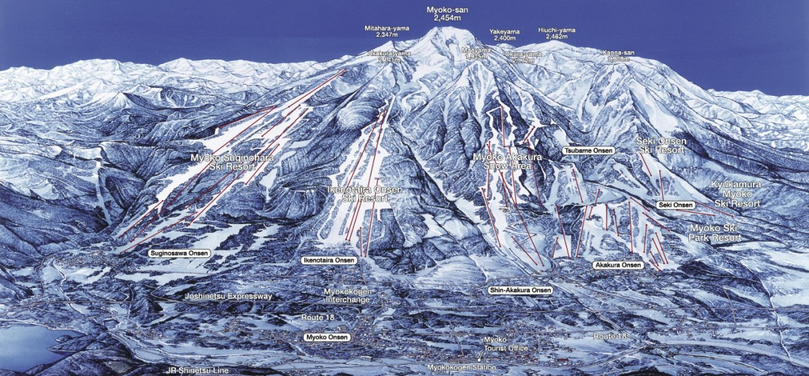 Myoko Kogen area map