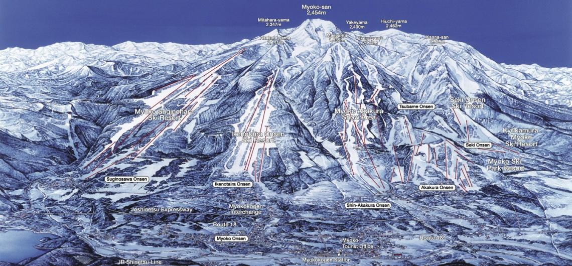 Myoko Kogen area map